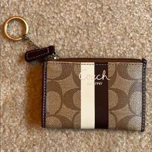 Coach Mini Skinny Id Case with Keychain.